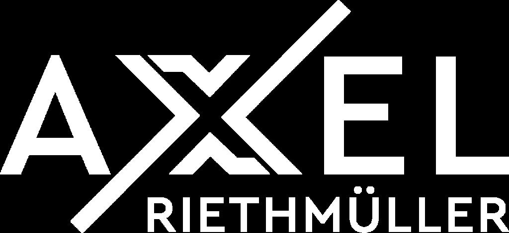 Axel Riethmüller Logo Weiß