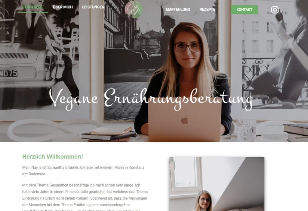 Samantha Bronner - Vegane Ernährungsberatung in Konstanz - Preview